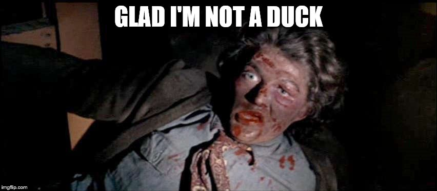 GLAD I'M NOT A DUCK | made w/ Imgflip meme maker