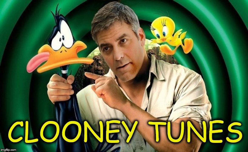 George Clooney has acquired  Warner Bros. First agenda for Looney Tunes is a name change! (Cartoon Week, A Juicydeath1025 Event) | . , | image tagged in memes,cartoon week,looney tunes,george clooney,daffy duck,tweety bird | made w/ Imgflip meme maker