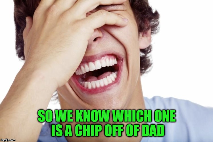 SO WE KNOW WHICH ONE IS A CHIP OFF OF DAD | made w/ Imgflip meme maker
