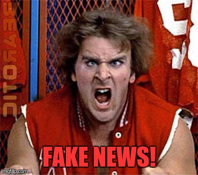 FAKE NEWS! | image tagged in revenge of the nerds,ogre,memes,fake news,trump youth | made w/ Imgflip meme maker