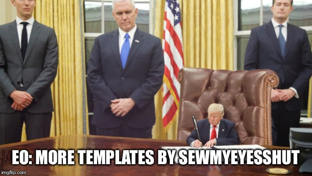 Little Trump | EO: MORE TEMPLATES BY SEWMYEYESSHUT | image tagged in little trump | made w/ Imgflip meme maker