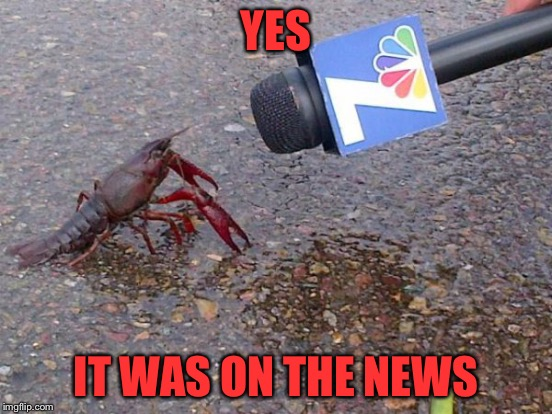 YES IT WAS ON THE NEWS | made w/ Imgflip meme maker
