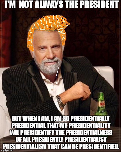 """I guess I'm a Politician now."" 