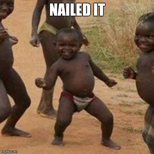 Third World Success Kid Meme | NAILED IT | image tagged in memes,third world success kid | made w/ Imgflip meme maker