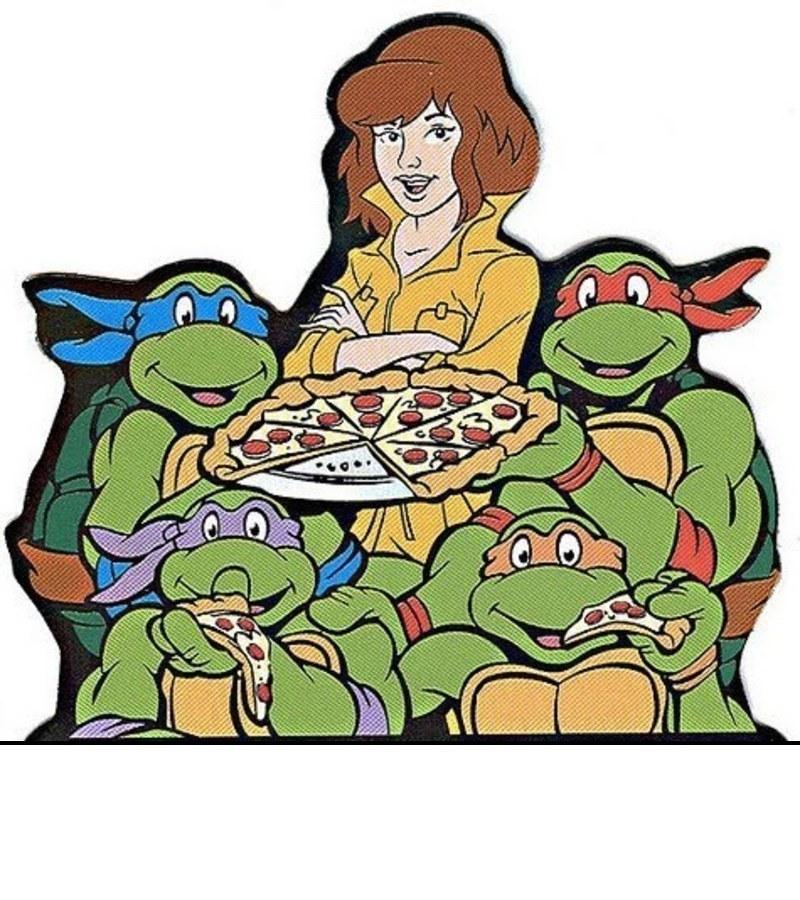 картинки черепашки ниндзя едят пиццу