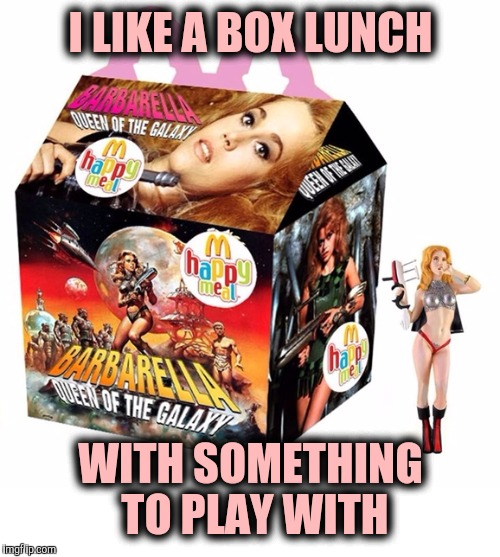 I LIKE A BOX LUNCH WITH SOMETHING TO PLAY WITH | made w/ Imgflip meme maker