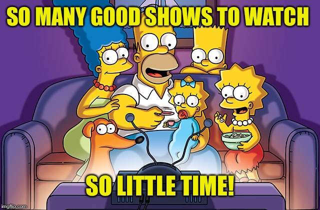 SO MANY GOOD SHOWS TO WATCH SO LITTLE TIME! | made w/ Imgflip meme maker