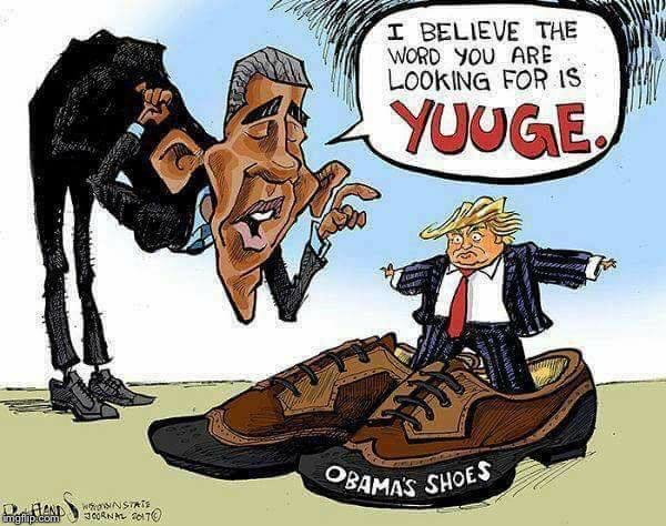 Donald Trump presidency in Obama's shoes | image tagged in donald trump,barack obama | made w/ Imgflip meme maker