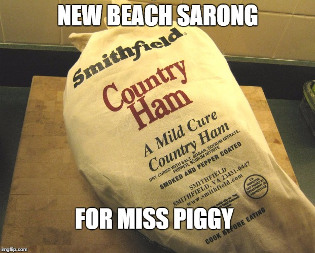 NEW BEACH SARONG FOR MISS PIGGY | made w/ Imgflip meme maker