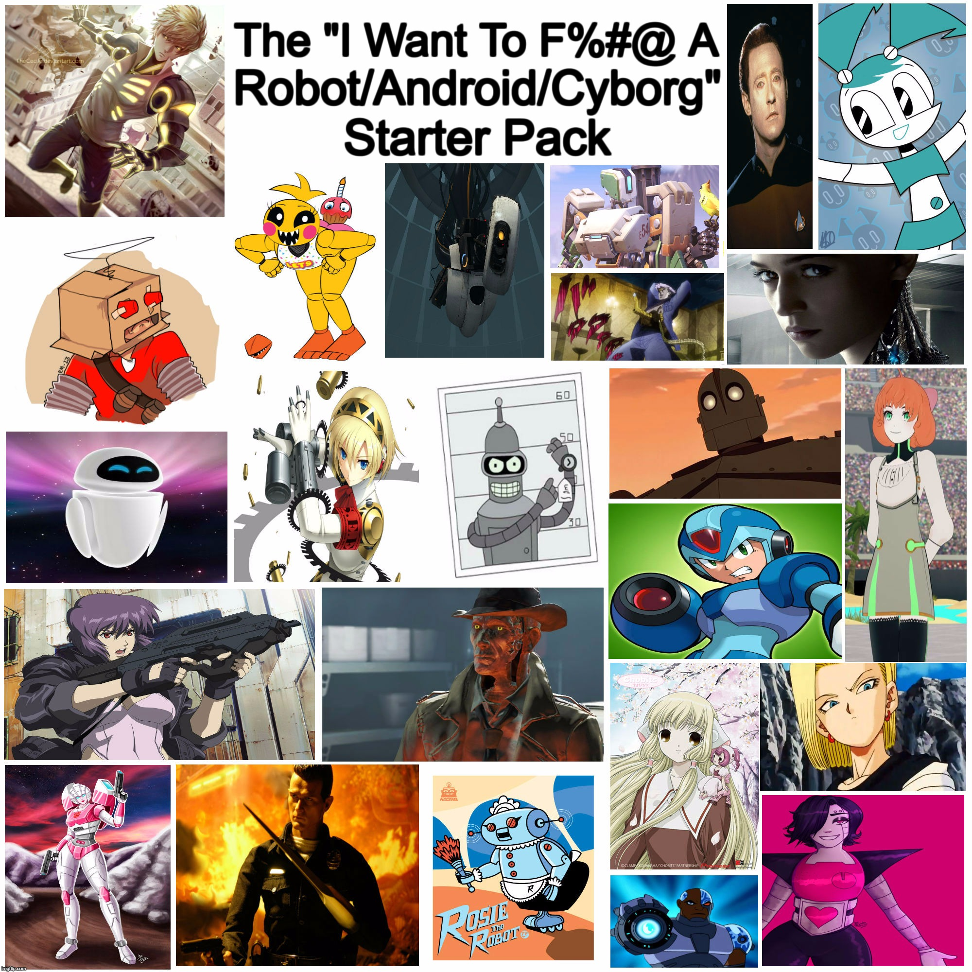 "This One Is For You Robot/Android/Cyborg Lovers | The ""I Want To F%#@ A Robot/Android/Cyborg"" Starter Pack 