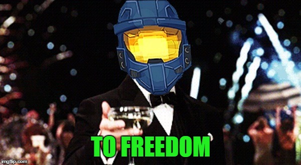 Cheers Ghost | TO FREEDOM | image tagged in cheers ghost | made w/ Imgflip meme maker