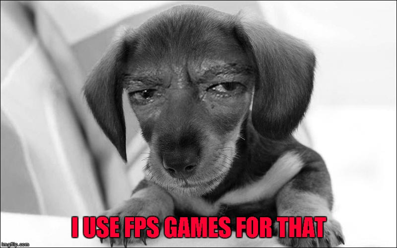 I USE FPS GAMES FOR THAT | made w/ Imgflip meme maker