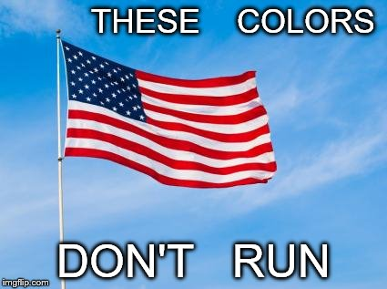 American Flag | THESE    COLORS DON'T   RUN | image tagged in american flag | made w/ Imgflip meme maker