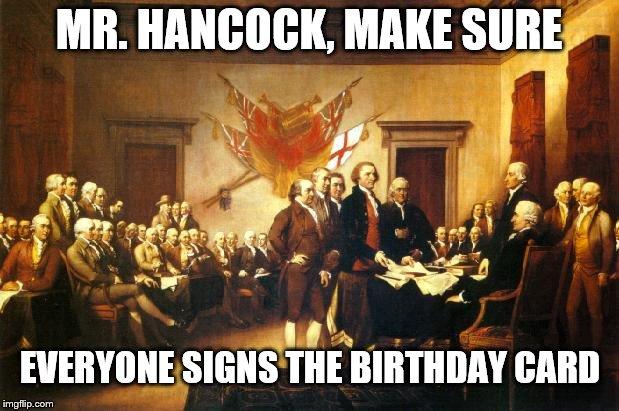 Mr Hancock Make Sure Everyone Signs The Birthday Card Imgflip