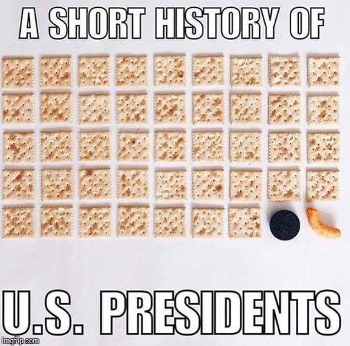 A short history of U.S. presidents. | . | image tagged in memes,funny,history,usa,president | made w/ Imgflip meme maker