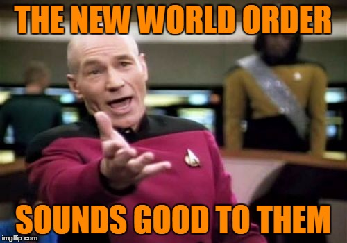 Picard Wtf Meme | THE NEW WORLD ORDER SOUNDS GOOD TO THEM | image tagged in memes,picard wtf | made w/ Imgflip meme maker