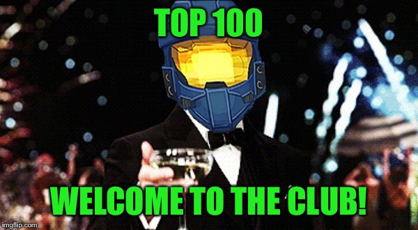 Cheers Ghost | TOP 100 WELCOME TO THE CLUB! | image tagged in cheers ghost | made w/ Imgflip meme maker