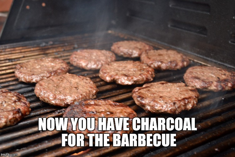 NOW YOU HAVE CHARCOAL FOR THE BARBECUE | made w/ Imgflip meme maker