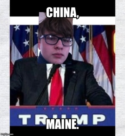 China. | image tagged in donald trump | made w/ Imgflip meme maker