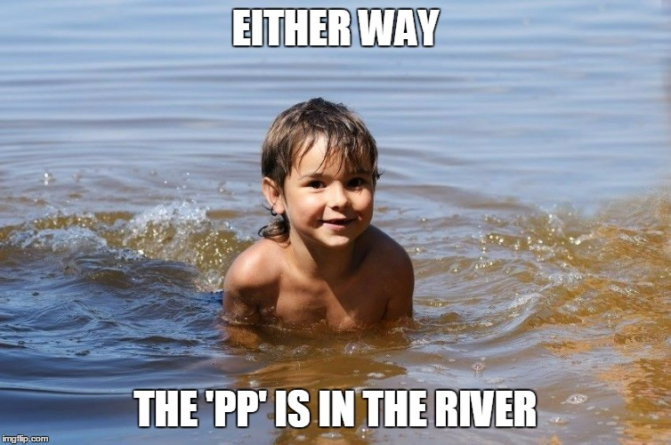EITHER WAY THE 'PP' IS IN THE RIVER | made w/ Imgflip meme maker