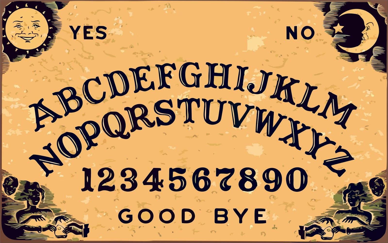 Ouija Board Blank Template