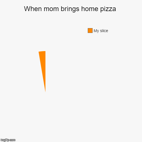 Pizza... :( | When mom brings home pizza | My slice | image tagged in funny,pie charts,pizza | made w/ Imgflip pie chart maker