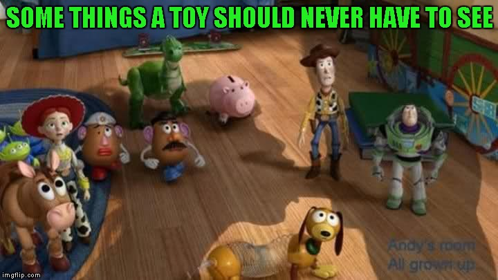 SOME THINGS A TOY SHOULD NEVER HAVE TO SEE | made w/ Imgflip meme maker