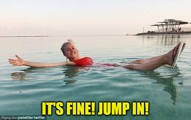 IT'S FINE! JUMP IN! | made w/ Imgflip meme maker