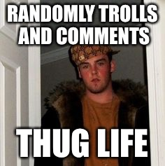 Ss | RANDOMLY TROLLS AND COMMENTS THUG LIFE | image tagged in ss | made w/ Imgflip meme maker