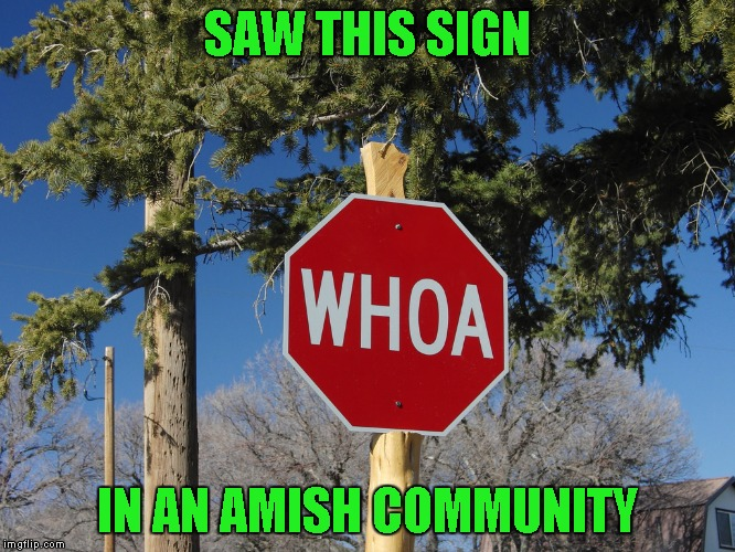 SAW THIS SIGN IN AN AMISH COMMUNITY | made w/ Imgflip meme maker