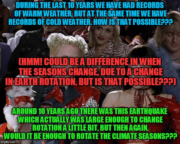 Earth so hot/cold right now! | DURING THE LAST 10 YEARS WE HAVE HAD RECORDS OF WARM WEATHER, BUT AT THE SAME TIME WE HAVE RECORDS OF COLD WEATHER. HOW IS THAT POSSIBLE???  | image tagged in slippy,slappy,fluffyknob the iii | made w/ Imgflip meme maker