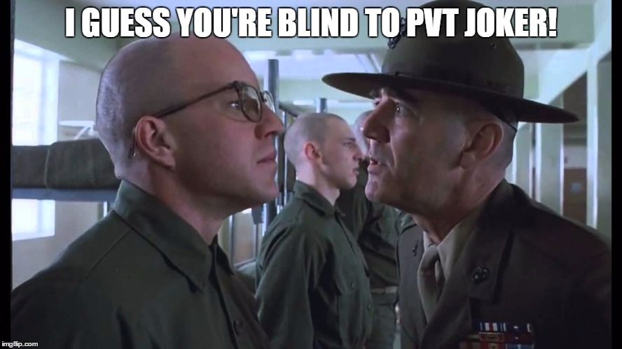 I GUESS YOU'RE BLIND TO PVT JOKER! | made w/ Imgflip meme maker