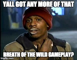 Y'all Got Any More Of That Meme | YALL GOT ANY MORE OF THAT BREATH OF THE WILD GAMEPLAY? | image tagged in memes,yall got any more of | made w/ Imgflip meme maker