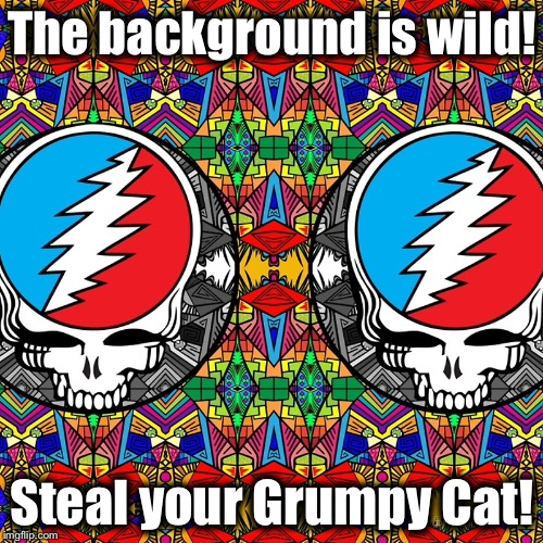 The background is wild! Steal your Grumpy Cat! | made w/ Imgflip meme maker