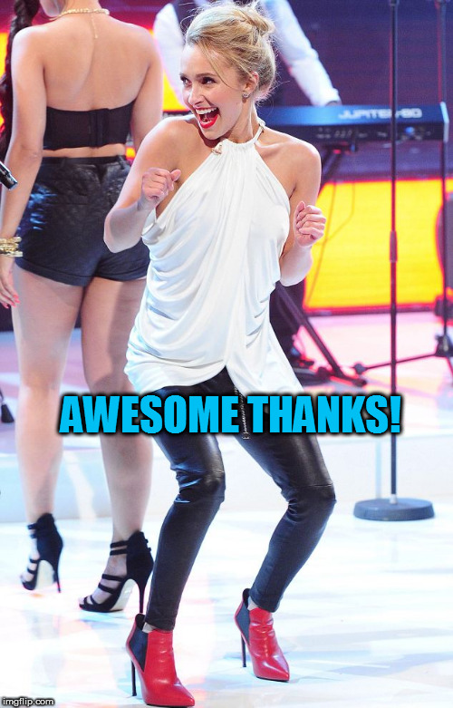 AWESOME THANKS! | made w/ Imgflip meme maker