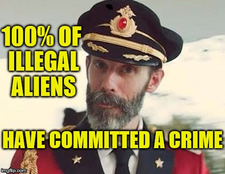 Crossing a border without the permission of the nation-state is a crime. | 100% OF ILLEGAL ALIENS HAVE COMMITTED A CRIME | image tagged in captain obvious | made w/ Imgflip meme maker