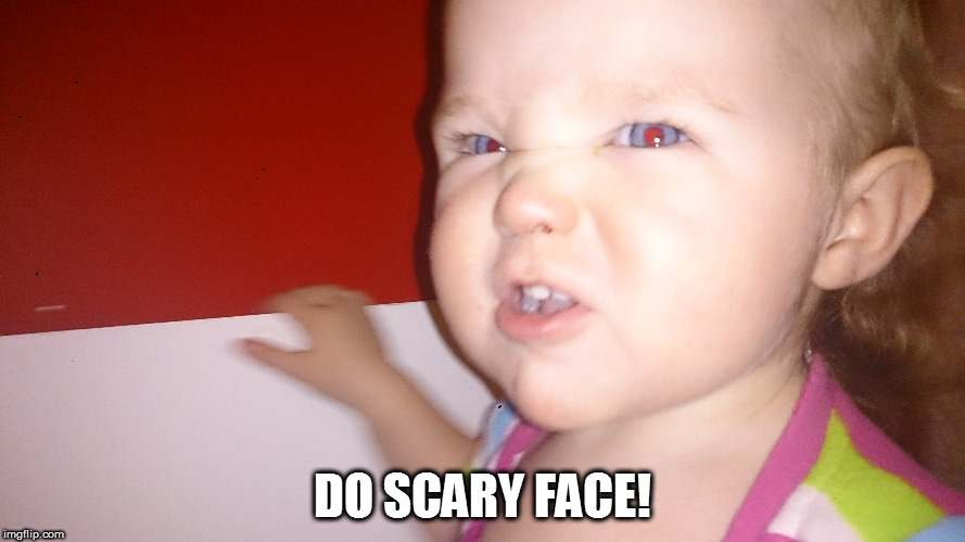 Funny Face Meme Maker : Babys scary face imgflip
