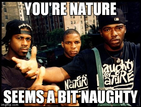 YOU'RE NATURE SEEMS A BIT NAUGHTY | made w/ Imgflip meme maker