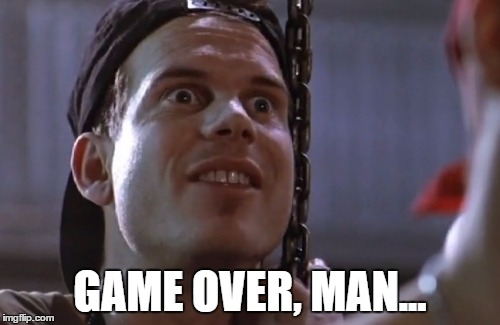 Bill Paxton RIP |  GAME OVER, MAN... | image tagged in bill paxton,paxton,aliens,rip,game over | made w/ Imgflip meme maker