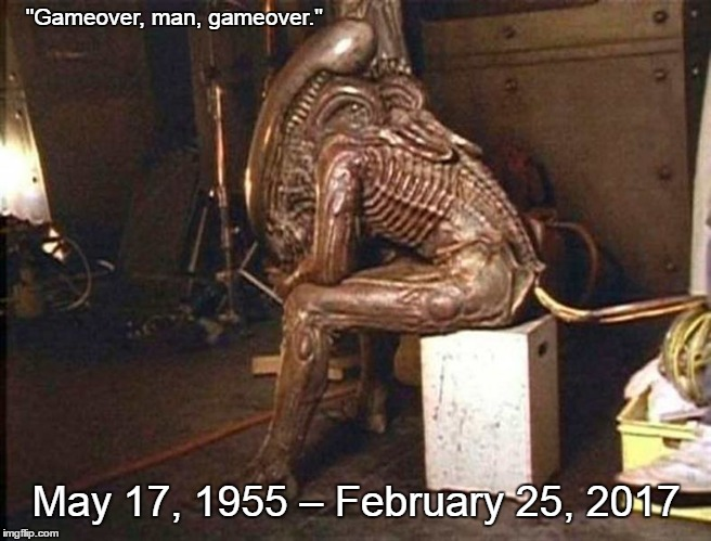 "Gameover Bill Vale |  ""Gameover, man, gameover.""; May 17, 1955 – February 25, 2017 