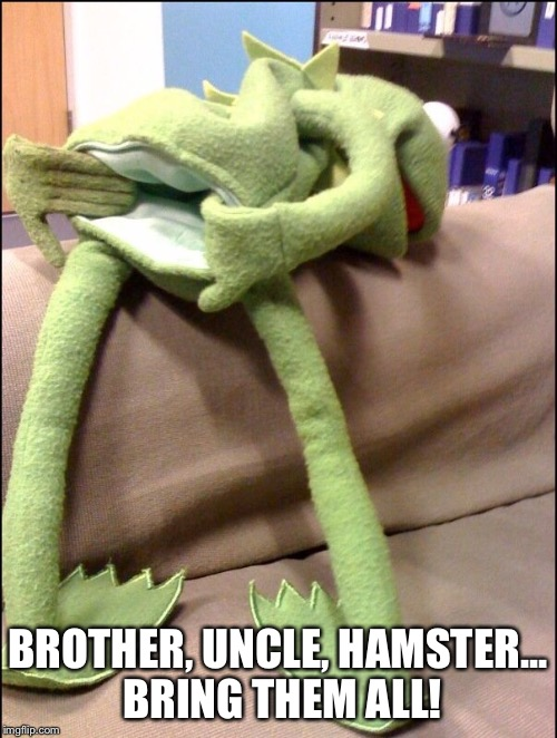 BROTHER, UNCLE, HAMSTER... BRING THEM ALL! | made w/ Imgflip meme maker