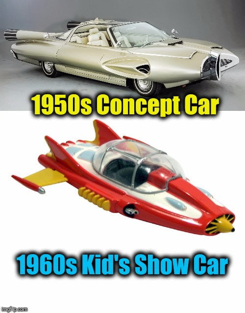 "Cousin Swiggy saw the 50s Concept Car and said, ""Supercar!"" Before my time. I had to look it up 