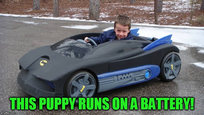 THIS PUPPY RUNS ON A BATTERY! | made w/ Imgflip meme maker