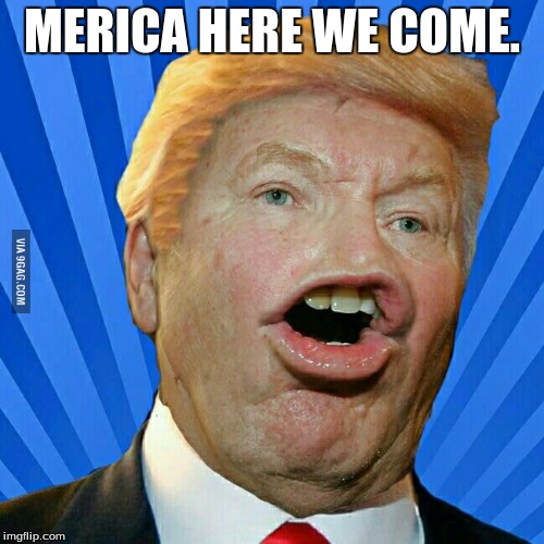 MERICA HERE WE COME. | image tagged in merica here we come | made w/ Imgflip meme maker