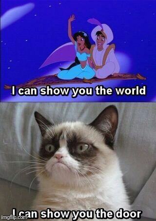 . | image tagged in memes,grumpy cat | made w/ Imgflip meme maker