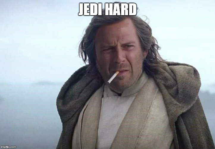 jedi hard | JEDI HARD | image tagged in jedi | made w/ Imgflip meme maker