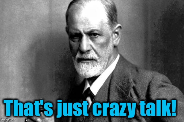 Sigmund Frued | That's just crazy talk! | image tagged in sigmund frued | made w/ Imgflip meme maker