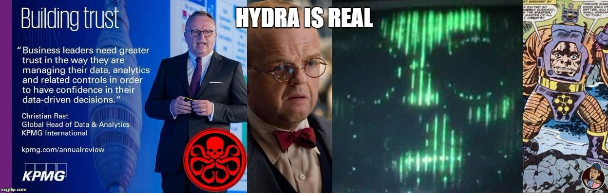 Hydra is Real | HYDRA IS REAL | image tagged in hail hydra,hydra | made w/ Imgflip meme maker