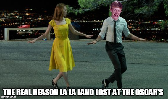 La La Land, Bad Luck Brian. | THE REAL REASON LA LA LAND LOST AT THE OSCAR'S | image tagged in bad luck brian,memes,oscars,la la land,funny,celebs | made w/ Imgflip meme maker