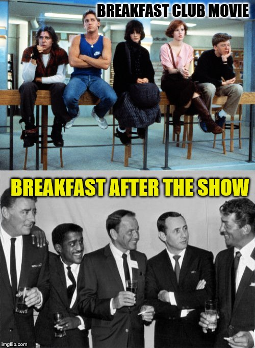 "Know your ""pack"" for Rat Pack week.  